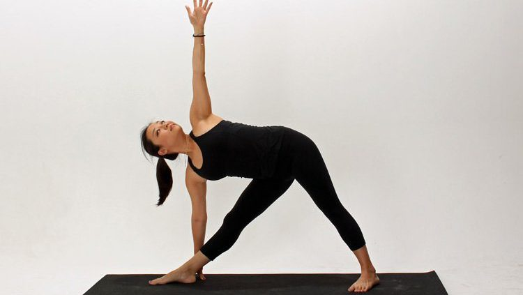 Triangle pose- Trikonasana