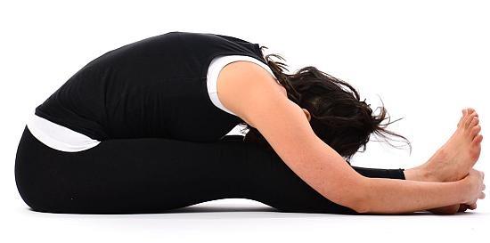 Paschimottasana at chinmay yoga
