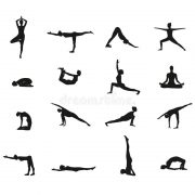 Yoga poses at Chinmay Yoga