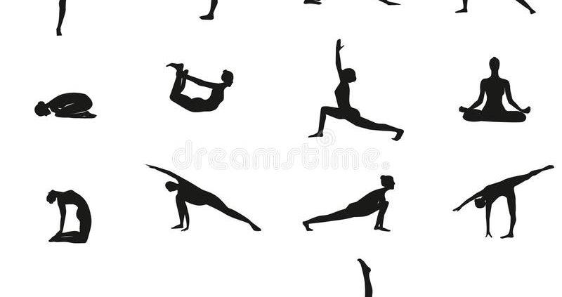 Yoga poses at Chinmay Yoga
