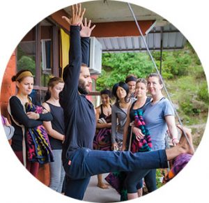 Teacher Amit at Chinmay Yoga