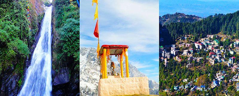 Bhagsu waterfall in Dharamsala